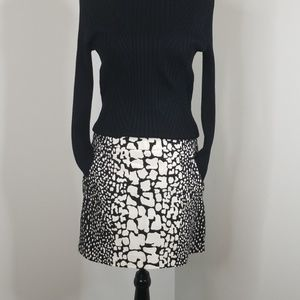J. CREW ▪ Reptile Print Mini Skirt, bl & cream